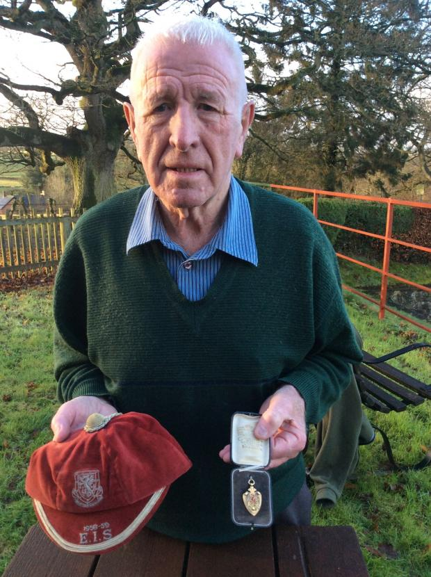 County Times: Ken Price of Penybont with heirlooms passed down by his great uncle Gordon Jones.