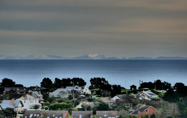 A rare view of a snow-capped Snowdon from Ireland. Taken from Dublin's Howth Summit. Picture: Niall O'Carroll