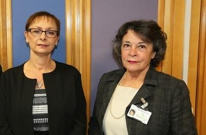 PCC chief executive Dr Caroline Turner and PCC leader Cllr Rosemarie Harris