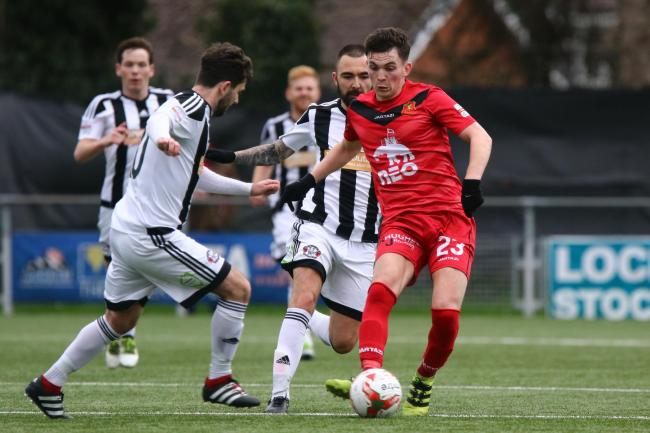 Alex Fletcher during the Dafabet Welsh Premier match between Newtown and Llandudno on Sunday, March 19, 2017...Pic: Mike Sheridan/County Times.MS433-2017.