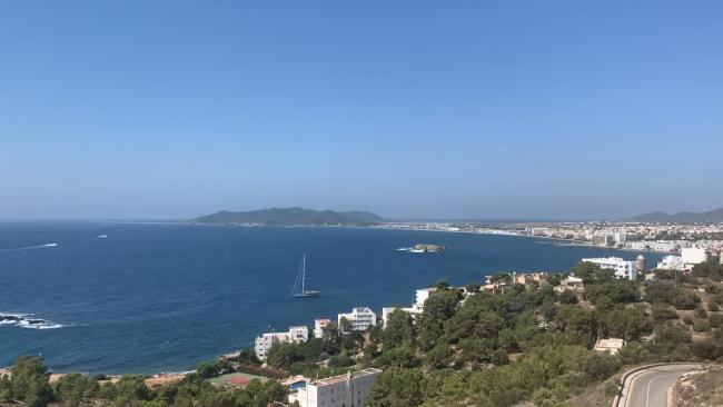 "General view of the sea in Ibiza Town. Last-minute British holidaymakers have embraced the ""new normal"" travel experience by heading to Ibiza on the first weekend of the relaxation of UK quarantine rules."