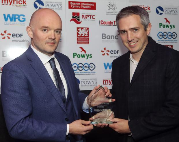 County Times: Powys Business Awards 2021. Small Business (Under 30 Employees) Award Winner, Gloversure, Welshpool. Picture by Phil Blagg Photography. PB064-2021-43