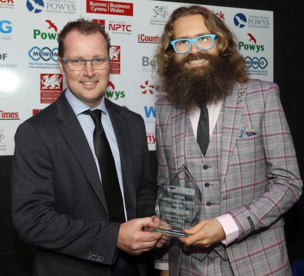 County Times: Powys Business Awards 2021. Social Enterprise/Charity Award winner, Asiantaeth Ynni Severn Wye. Picture by Phil Blagg Photography. PB064-2021-37