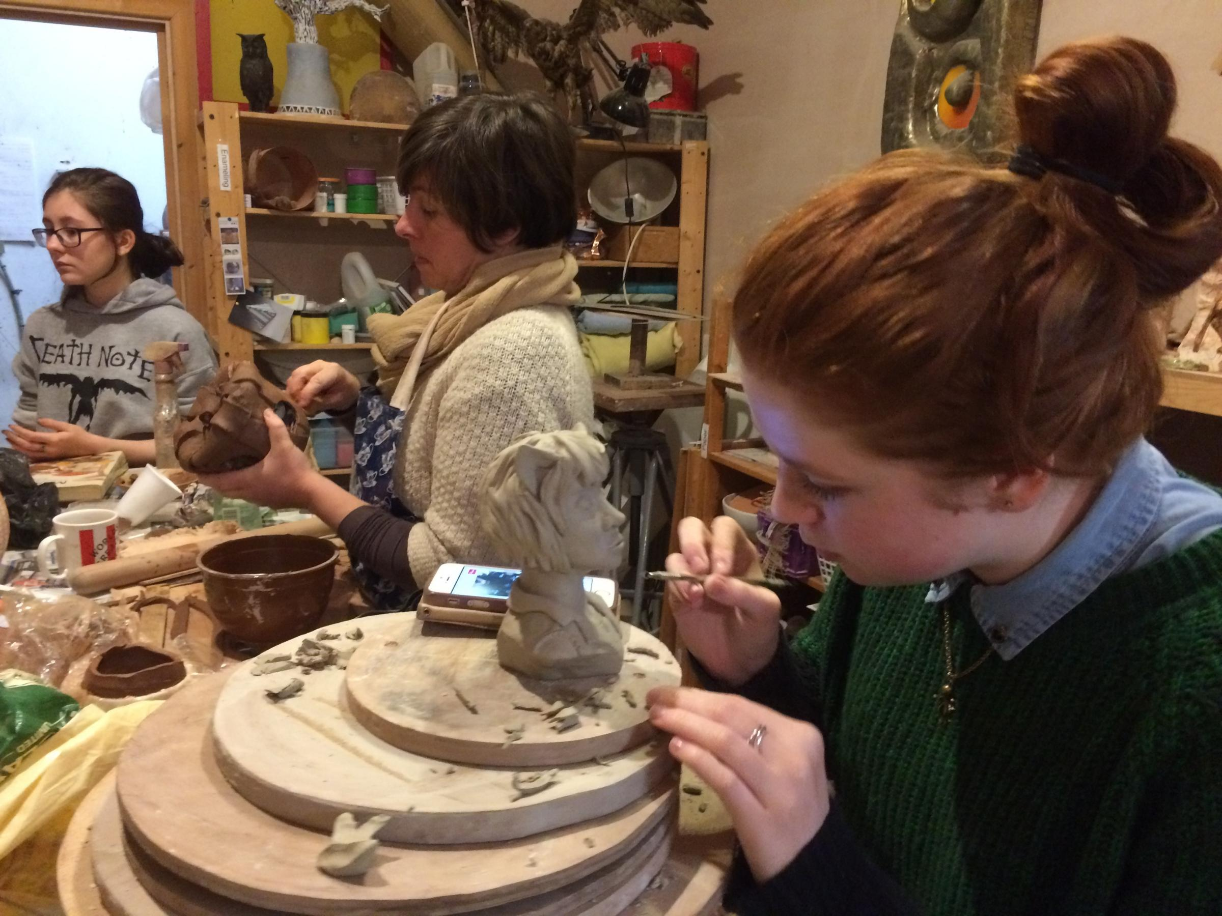 Pottery classes are a hit at the Mid Wales Arts Centre, Caersws.
