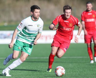 Alex Darlington in action for TNS.