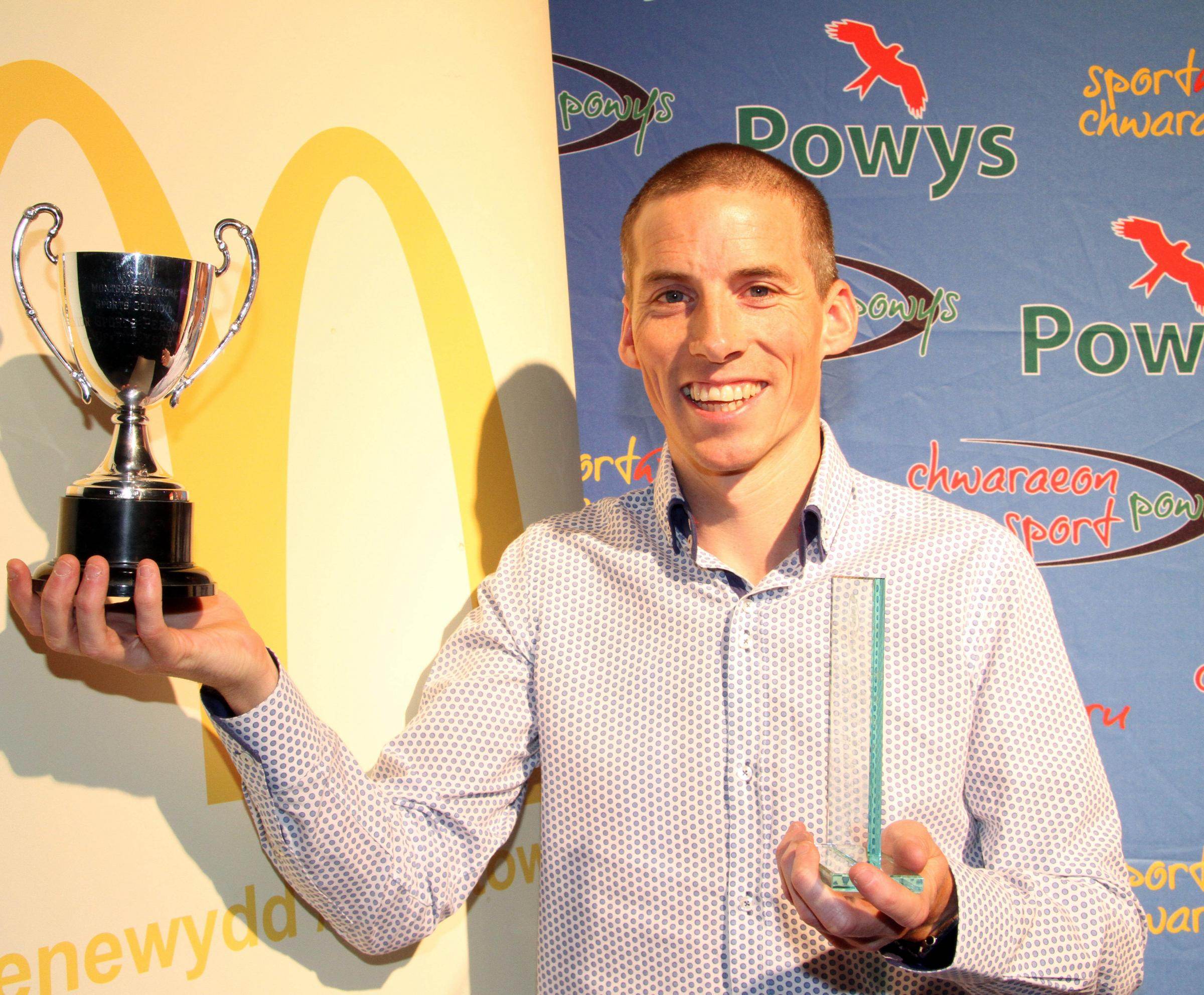 Montgomeryshire senior sports personality of the year is runner Andy Davies.