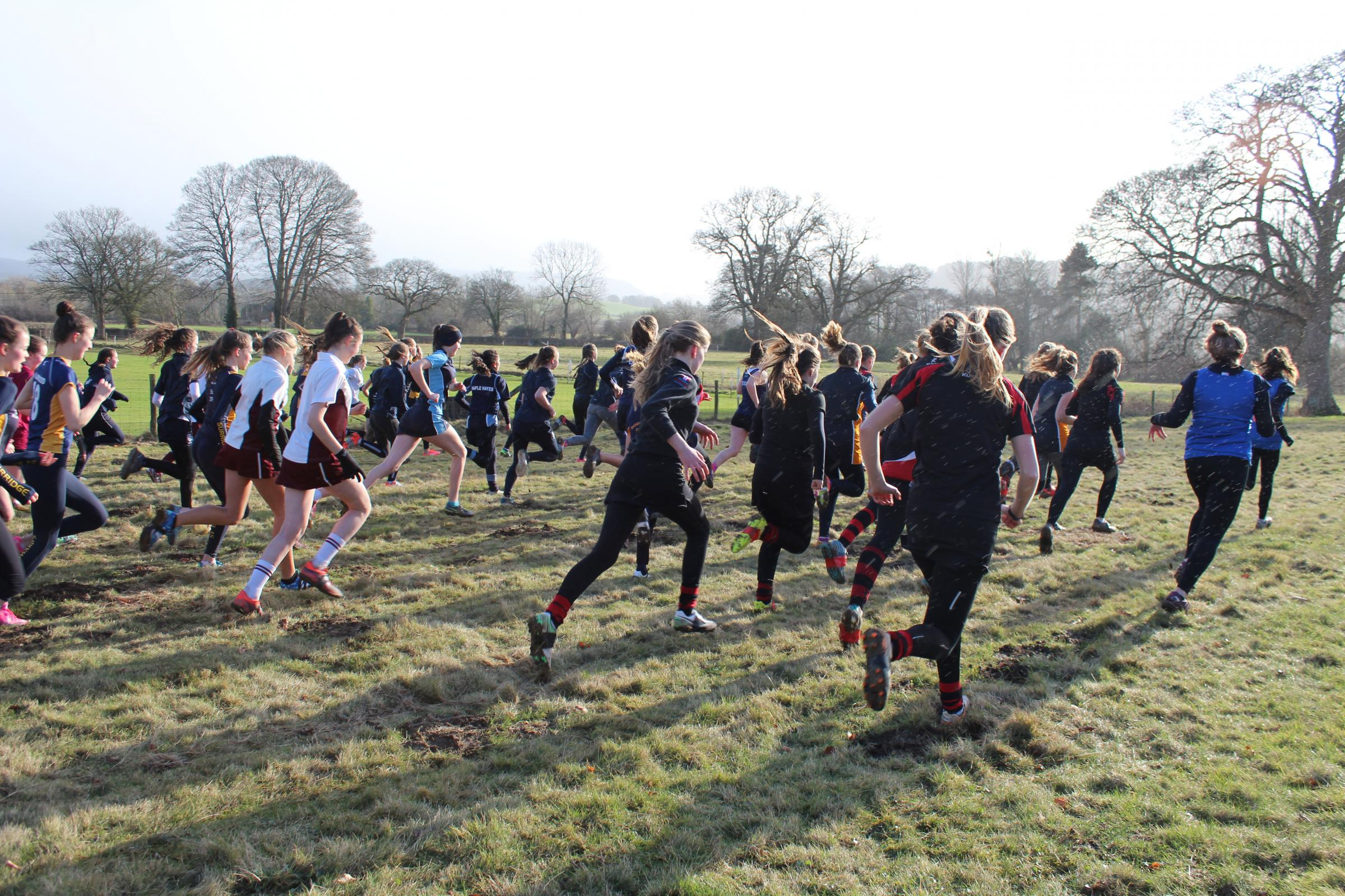 Action from the Midlands Independent Schools Association Cross Country Championships.