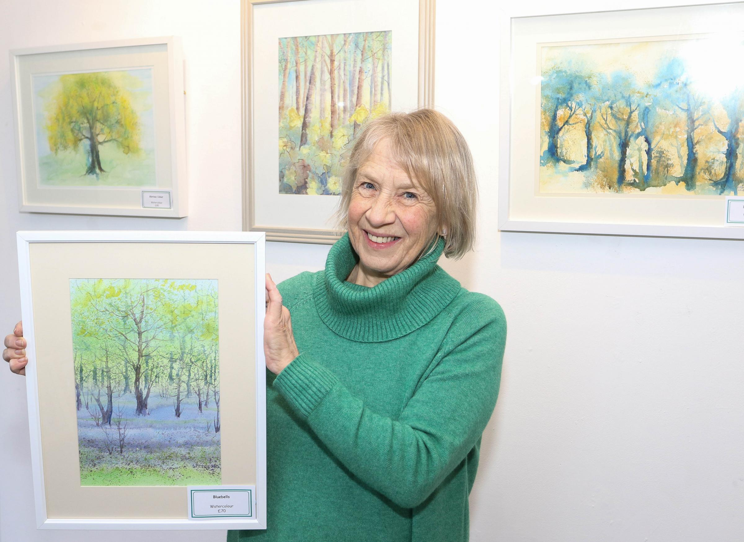 "PB054-2018-4.""Welcome to the Woodland Walk"" an exhibition of artwork by local artist Sue Percy from Bishop's Castle..The Exhibition is on now until 28th February 2018 at SpArC, Bishop's Castle.picture by Phil Blagg.PB054-2018-4."