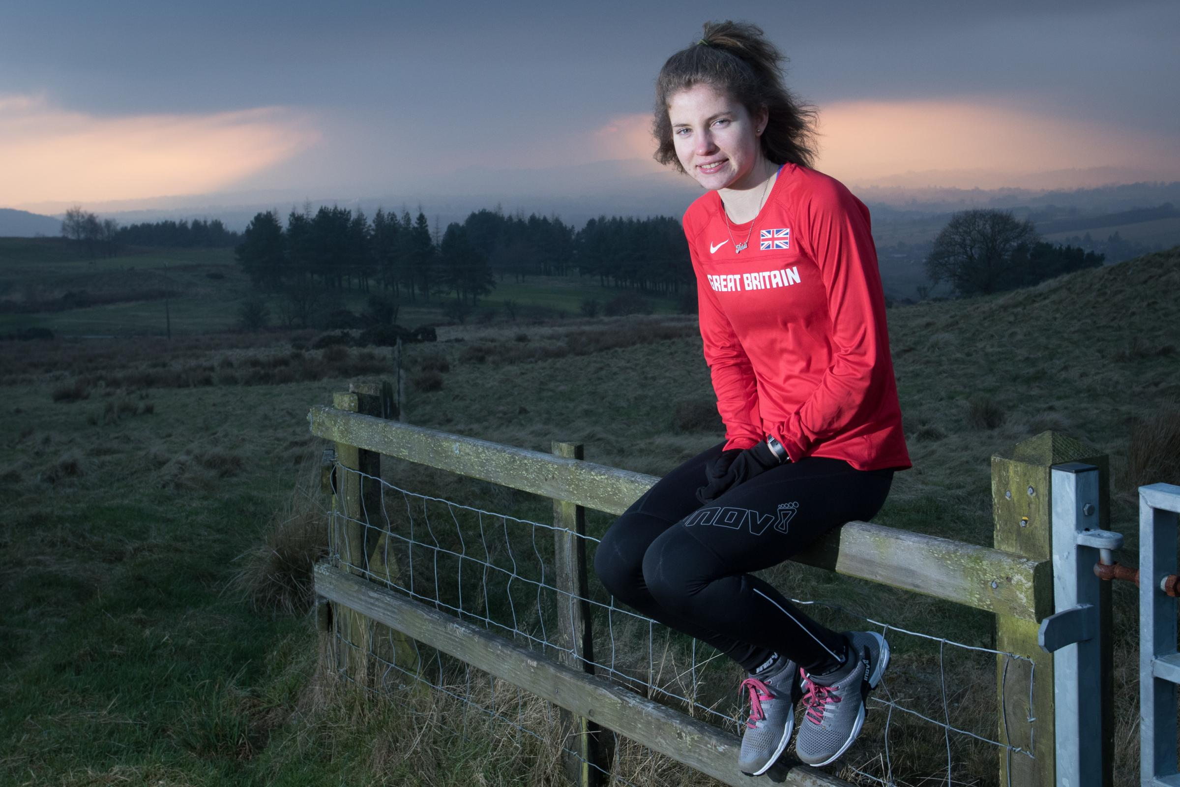 Great Britain mountain runner Heidi Davies, from Llandrindod Wells. Pic: Mike Sheridan/County TimesMS352-2017