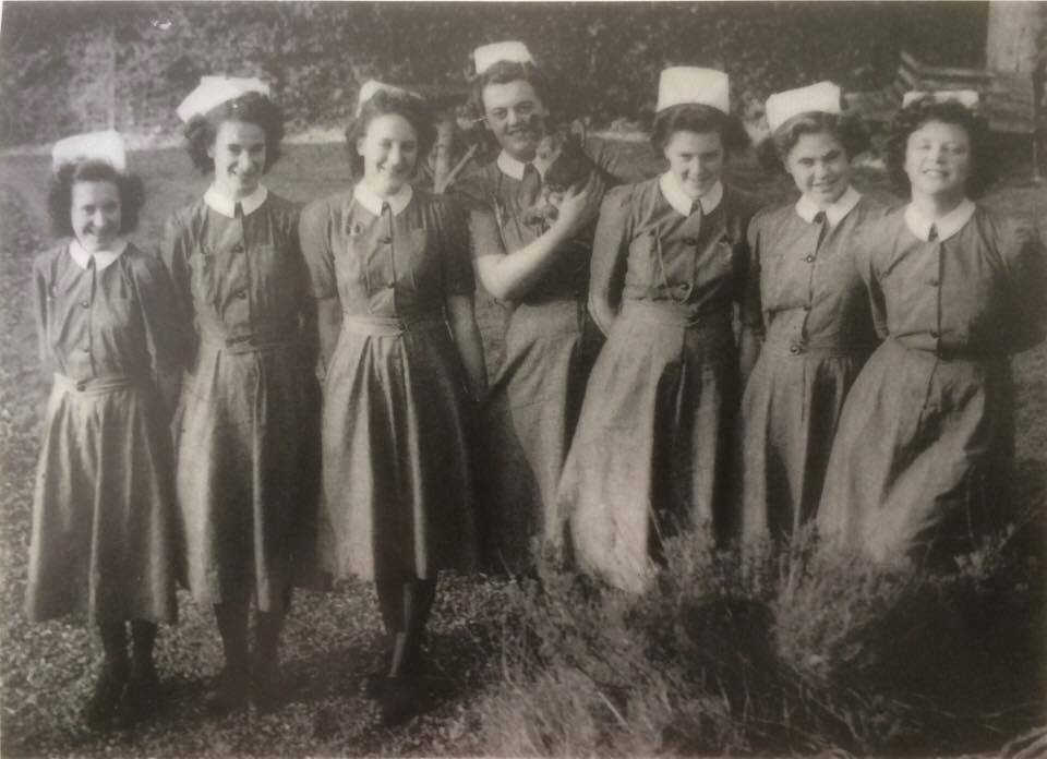 A group of student nurses from Shropshire who studied between 1948 and 1951.