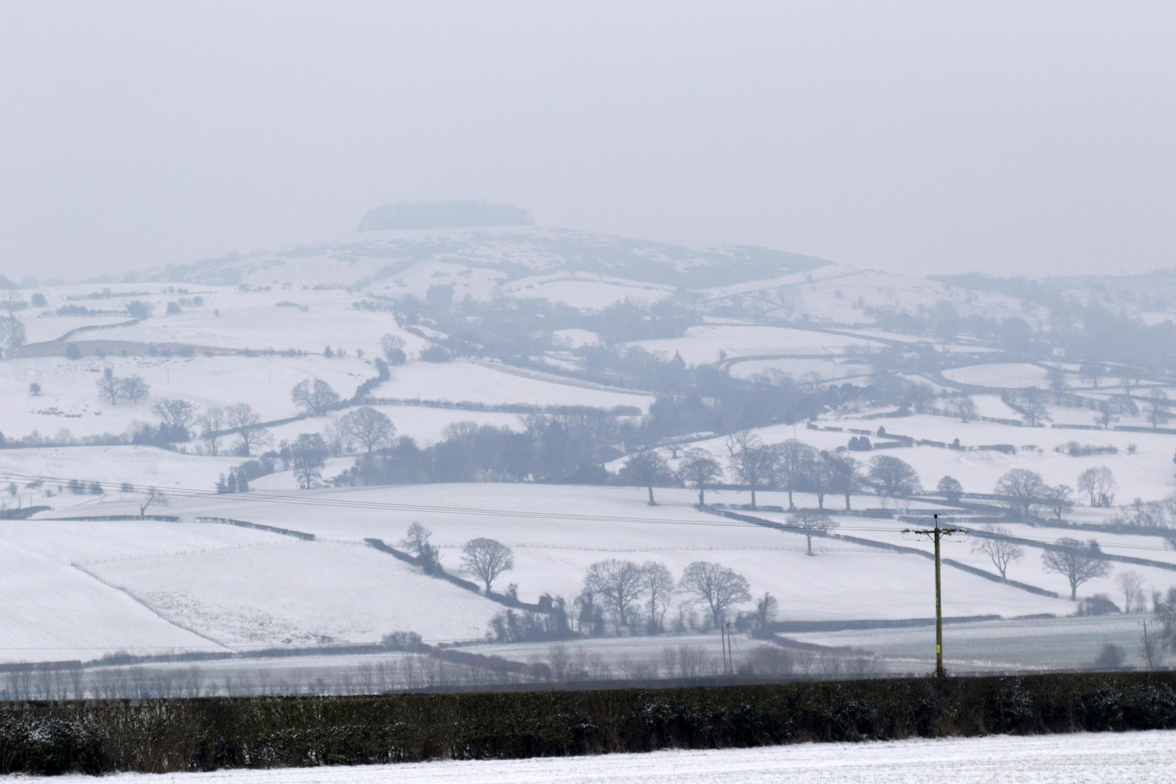 Snow has been thick in Powys