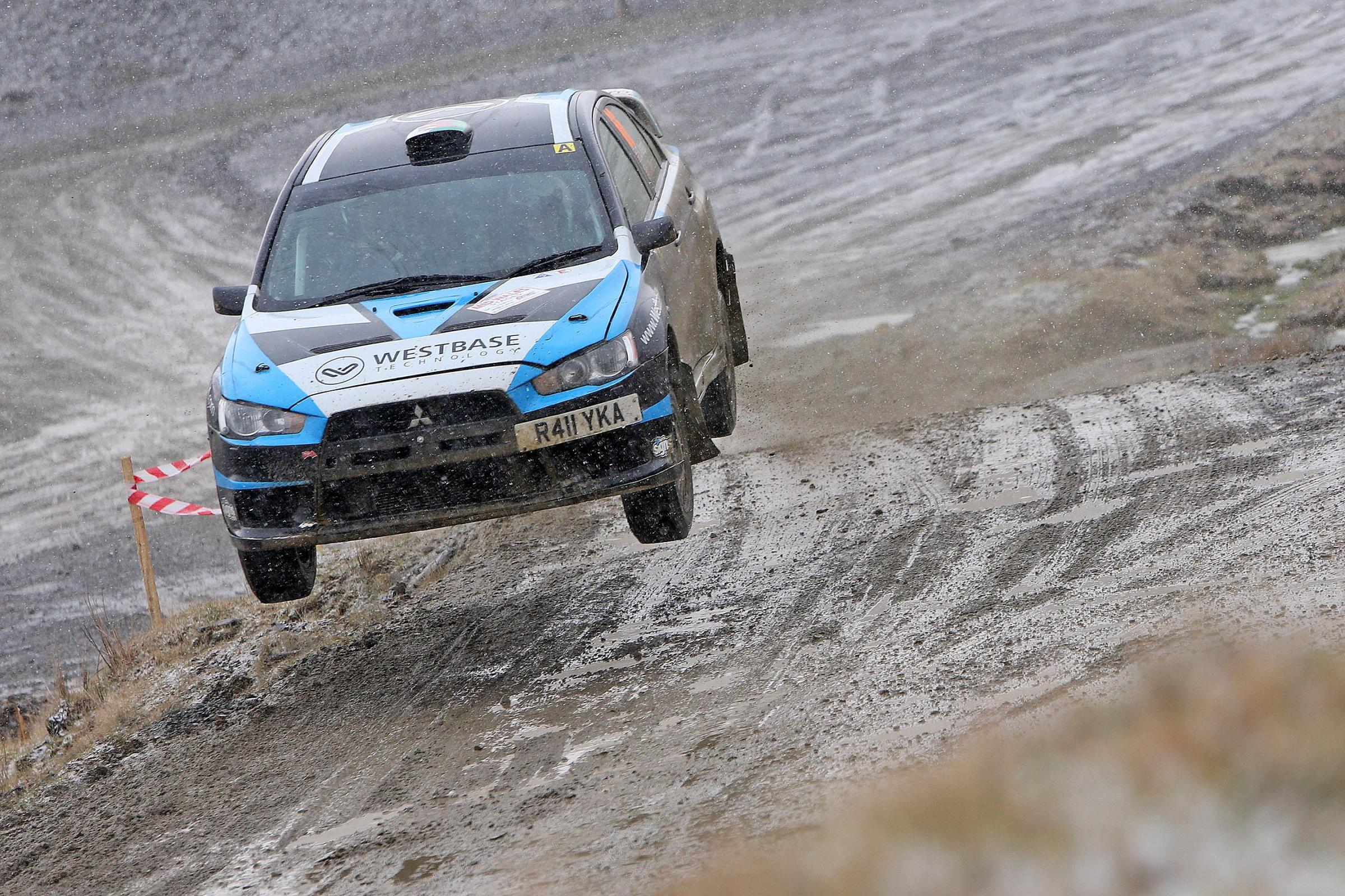 Action from the Mid Wales Rally Stages.