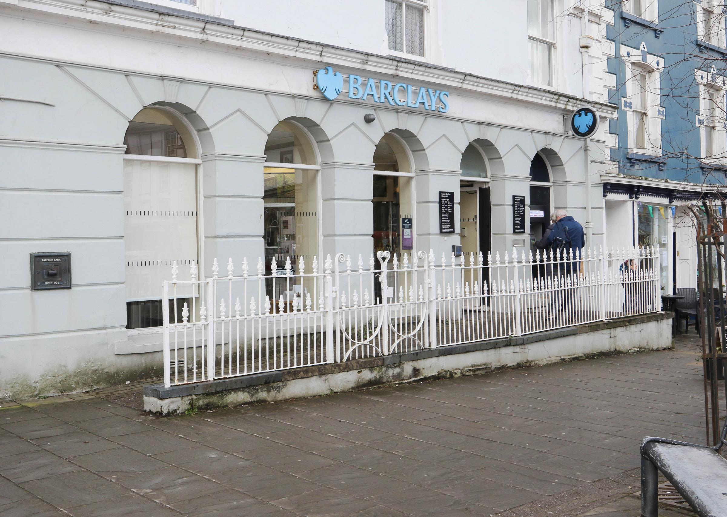 Barclays Bank, Machynlleth.Picture by Phil Blagg.PB132-2018-1.
