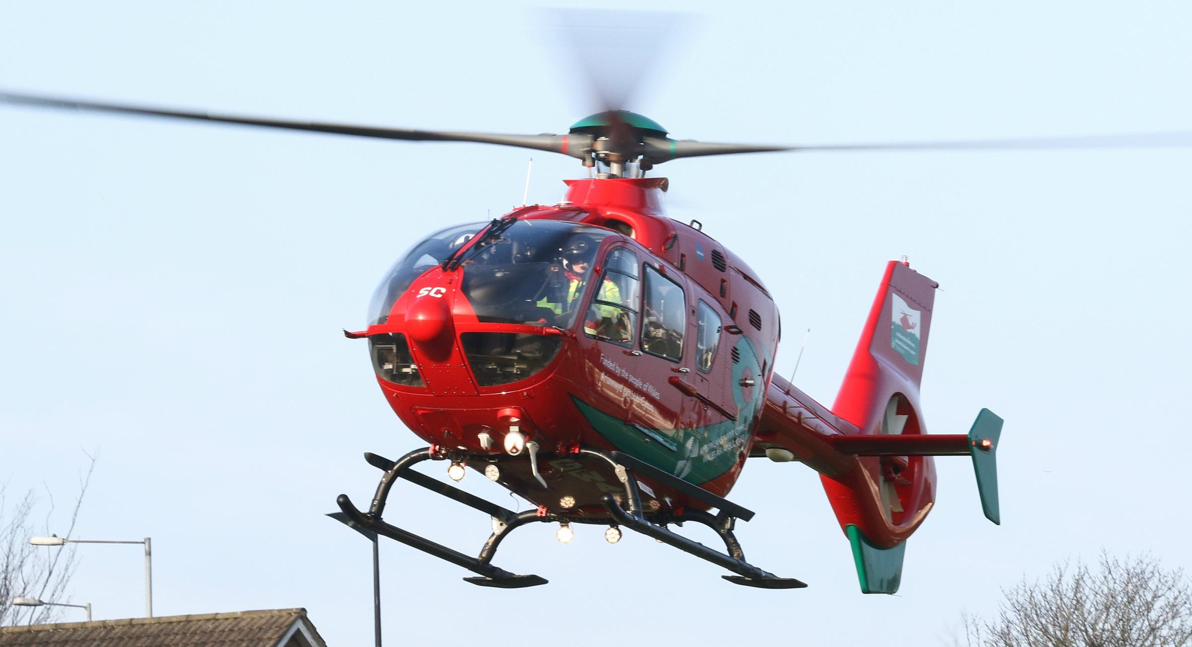 Crash victim was airlifted to hospital
