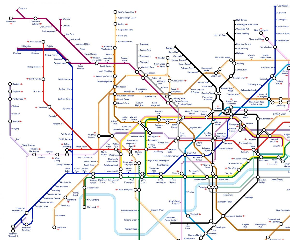 Map Of London Underground System.London Underground Map Of What Tube Could Look Like In 2040