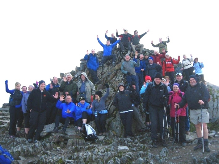 The FUW team at the top of Snowdon in 2012.