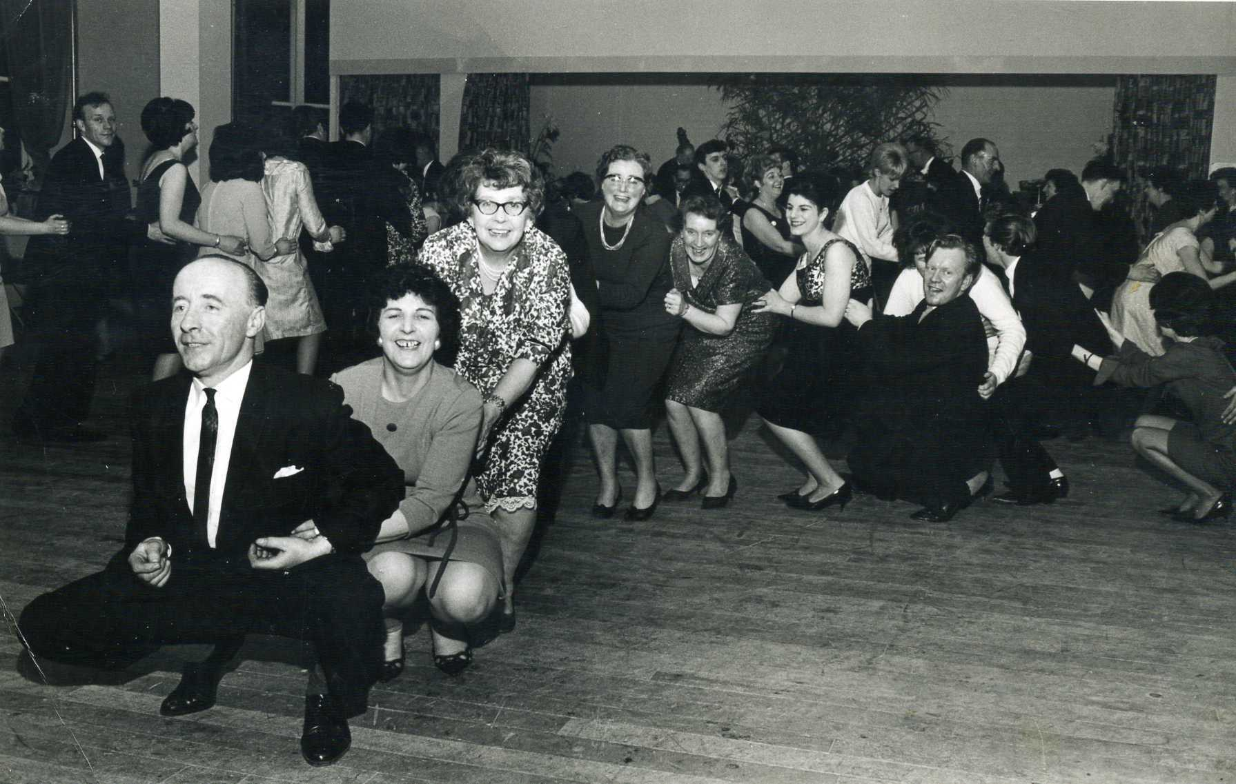 CT MEMORY LANE FEATURE: A picture taken at a Pryce Jones staff Christmas party in the late 1950's.