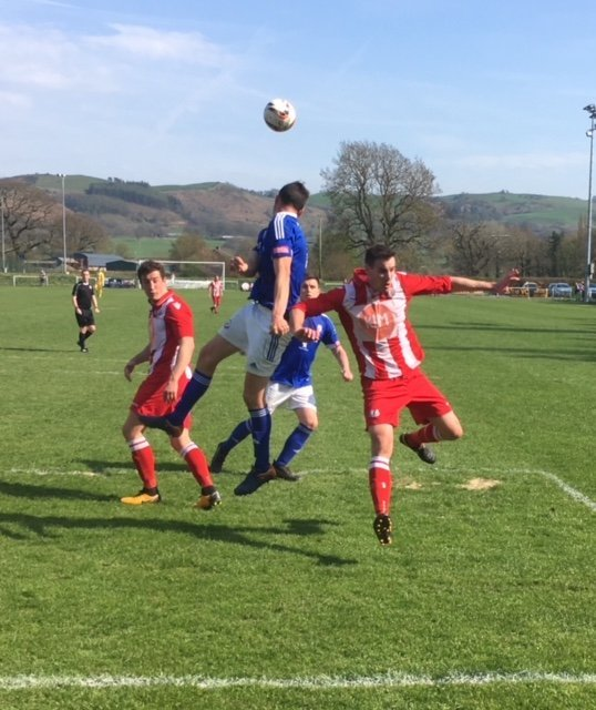 Action from Caersws' defeat against Holywell Town.