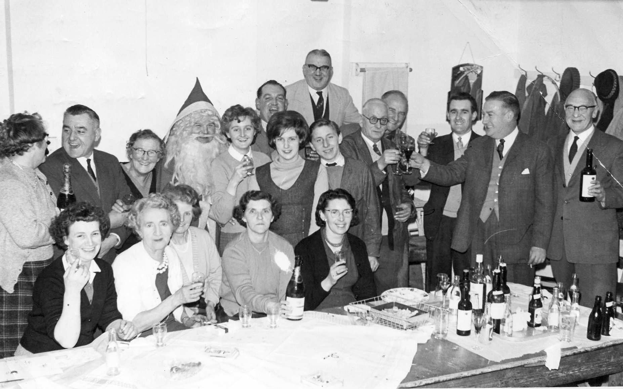 The Pryce-Jones 'Basement and Maintenance' Christmas party from some time in the 1960s.