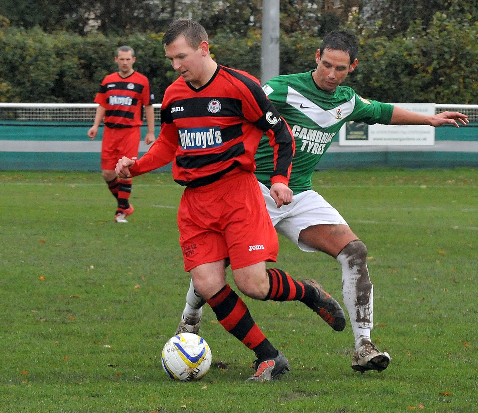 Sion James, pictured playing for Aberystwyth Town, was the match winner for Penrhyncoch on Saturday..