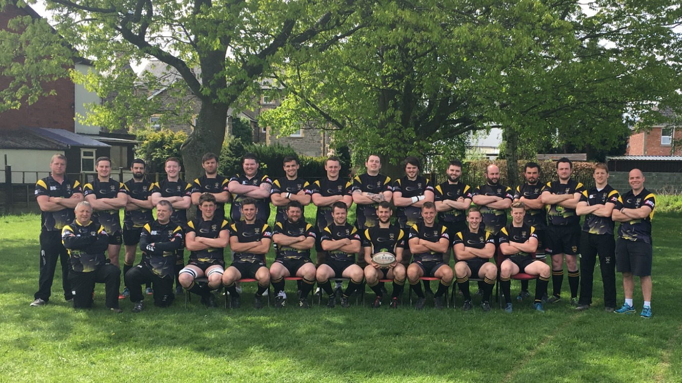 Builth Wells Rugby Club line up ahead of their final game of the season.