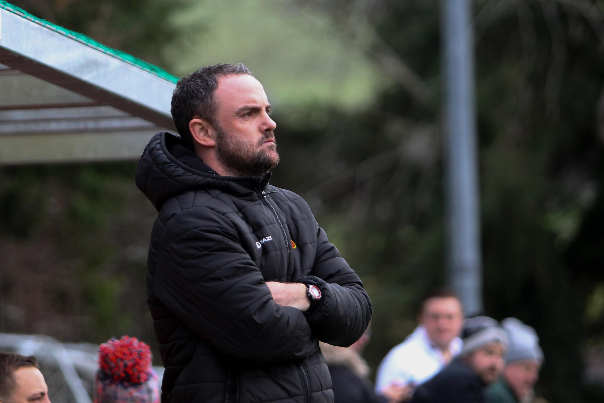 Newtown boss Chris Hughes during the JD Welsh Premier fixtuyre between Newtown AFC and The New Saints (TNS) at Latham Park on Tuesday, December 26, 2017...Pic: Mike Sheridan/County Times.MS851-2017.