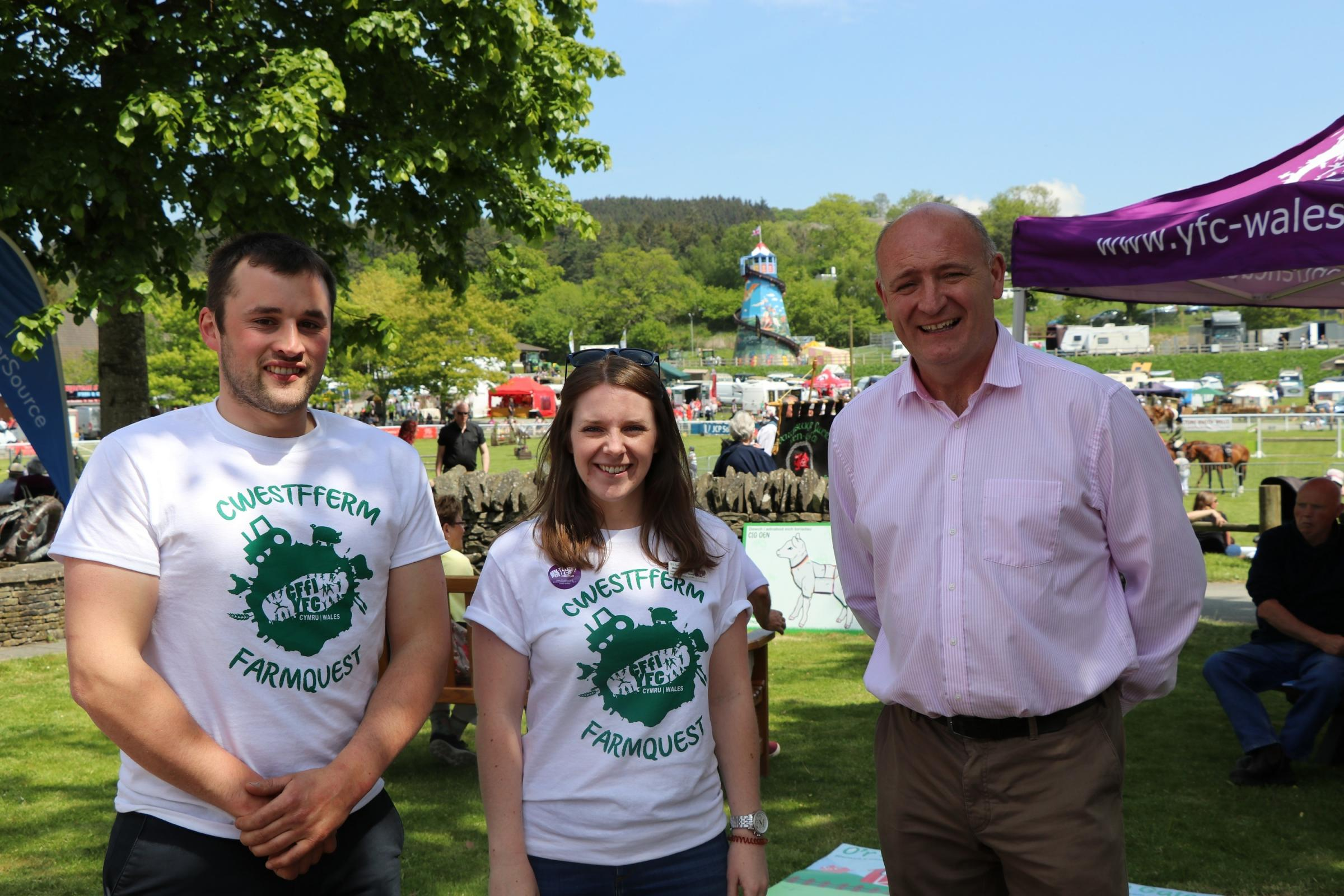 At the launch are (from left): Dafydd Jones, Rural Affairs Committee chairman, Sioned Edwards, Events and Marketing Committee chairman and John Davies, NFU Cymru president.