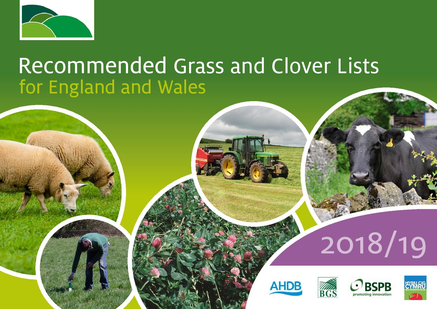 The cover of this year's Recommended Grass and Clover List.