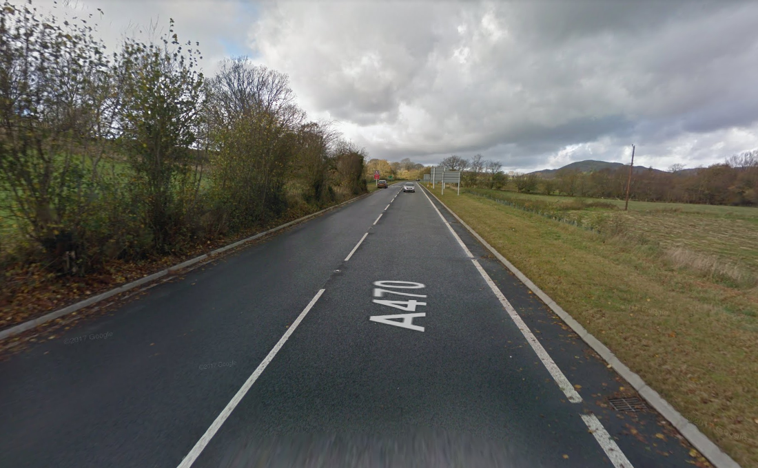 The A470 near Cross Foxes pub. Picture: Google Streetview