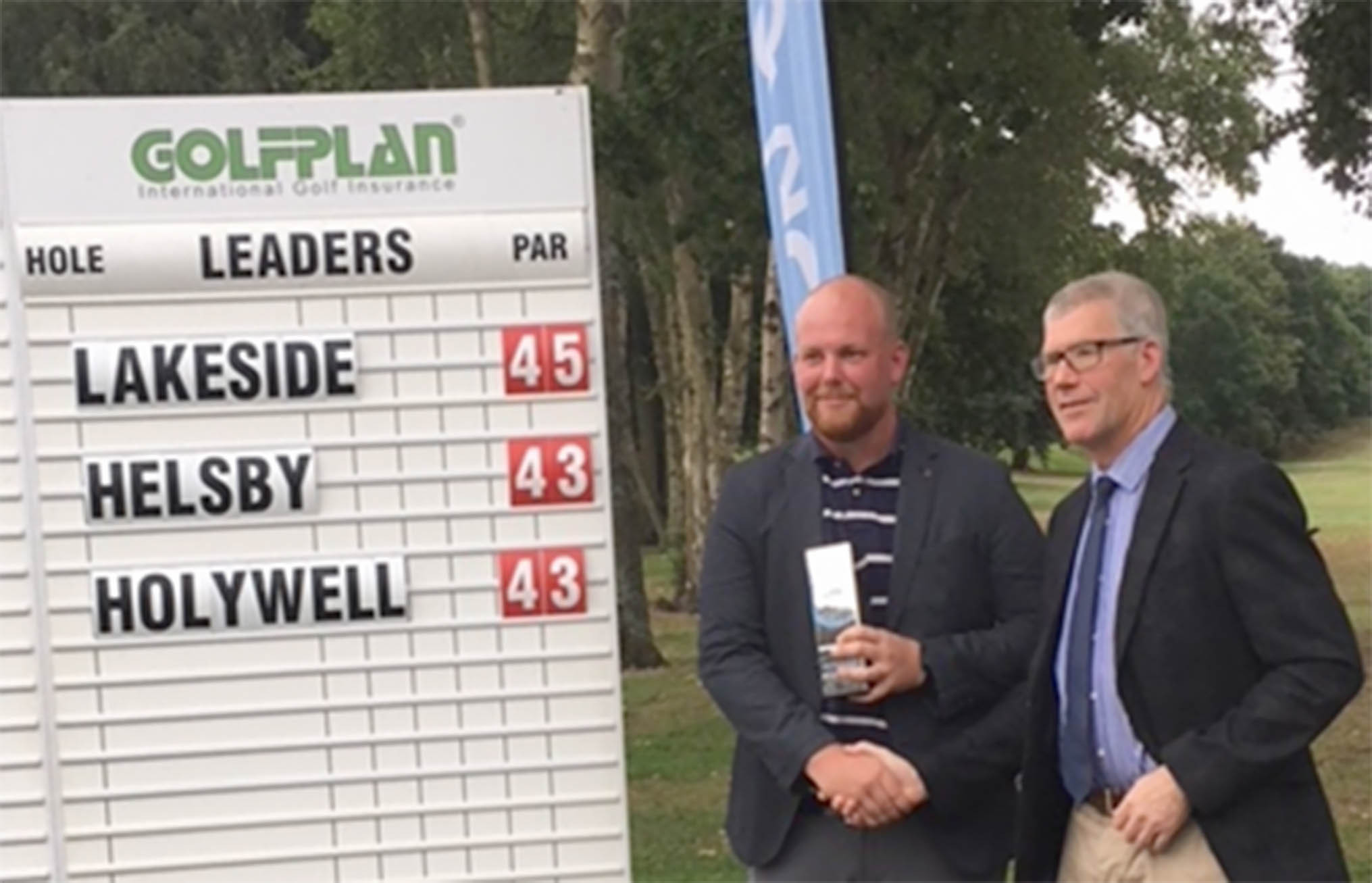 Grant Edwards and Steve Owen of Lakeside Golf Club will represent the club in the final of the SkyCaddie PGA Pro-Captain Challenge in Mallorca over two days in November after winning the regional final in Altrincham.