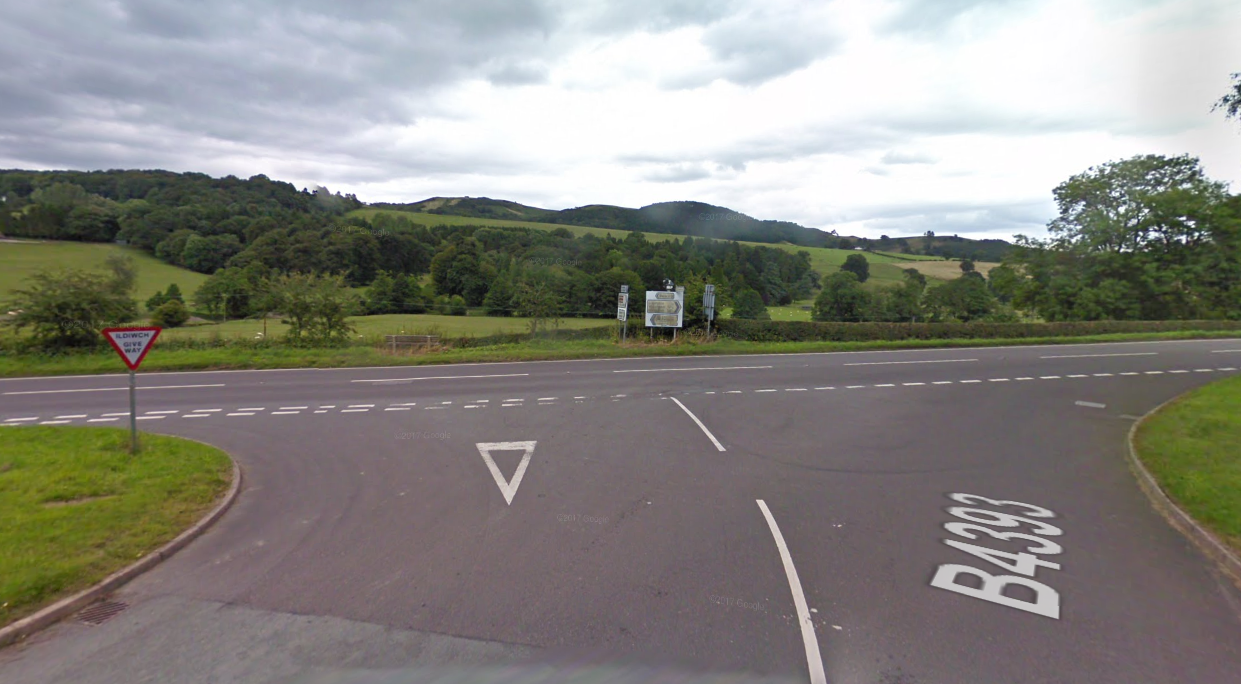 The B4393 and A490 junction at Llanfyllin. Picture: Google Streetview