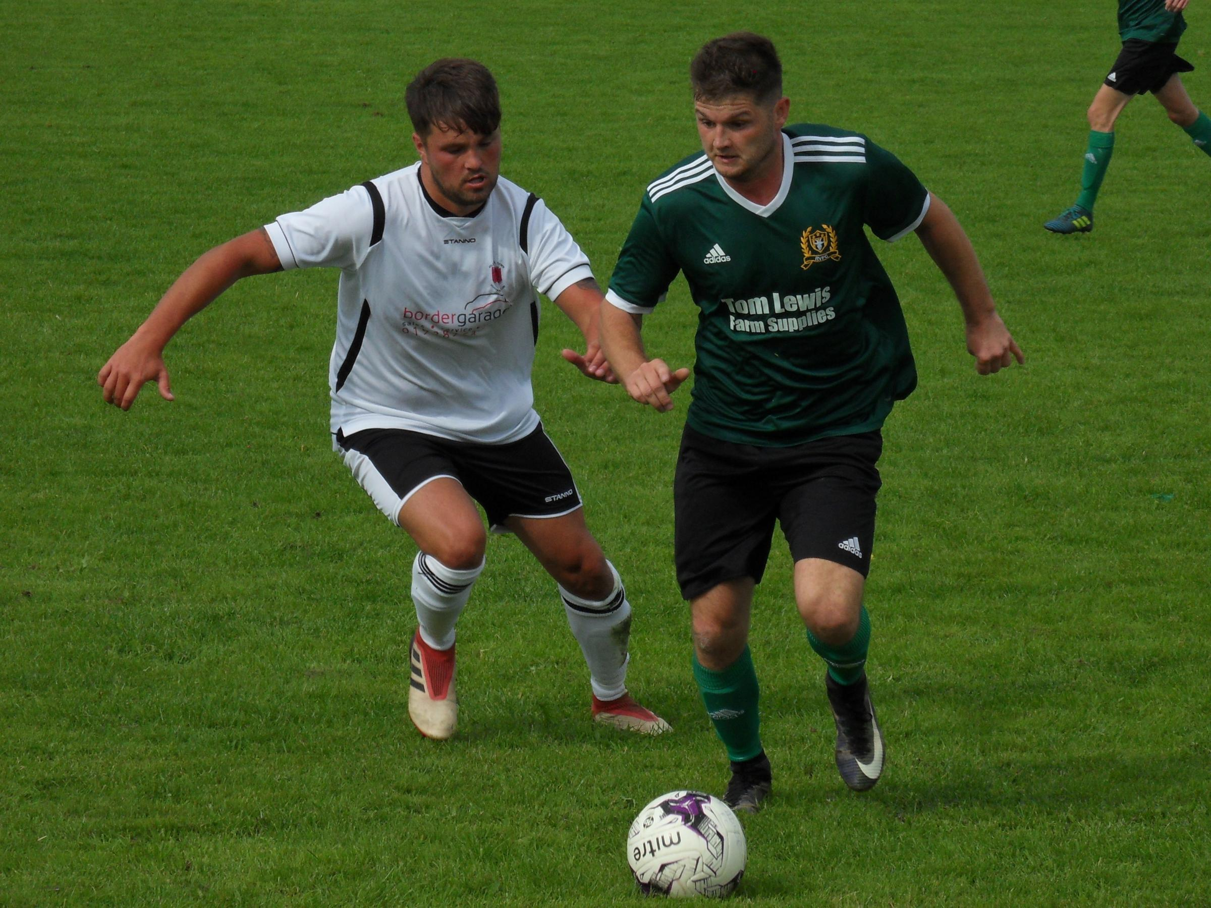 Action from Radnor Valley's win over Welshpool. Picture by Stuart Townsend.