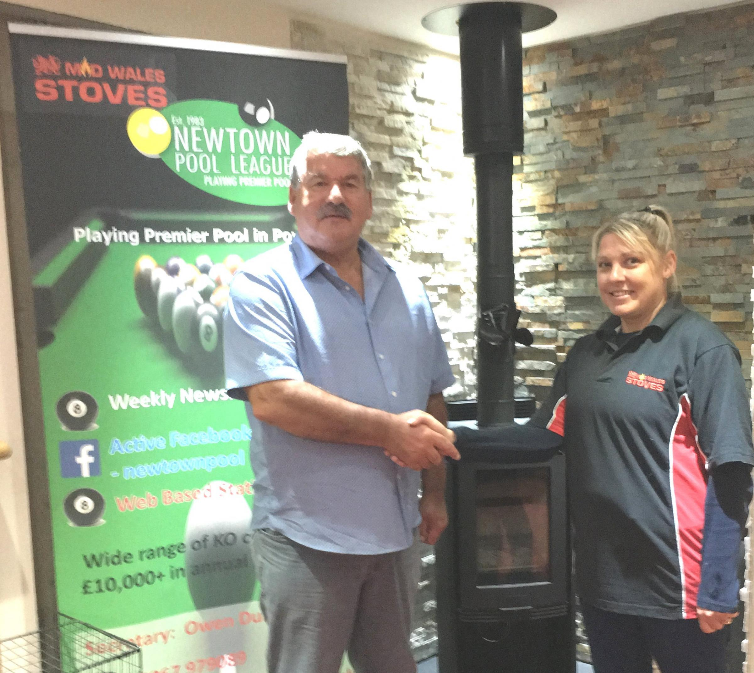 Mid Wales Stoves Newtown Pool League began its 36th year last weekend and started with a brand new sponsor in Mid Wales Stoves of Llanfair Caereinion.
