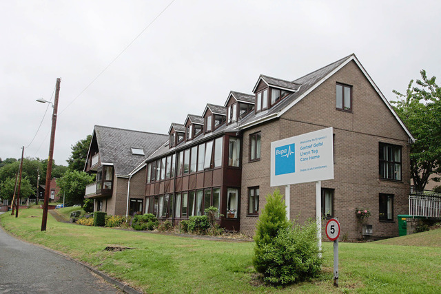 The care home at Llanfyllin, Llwyn Teg, which is currently run by BUPA.
