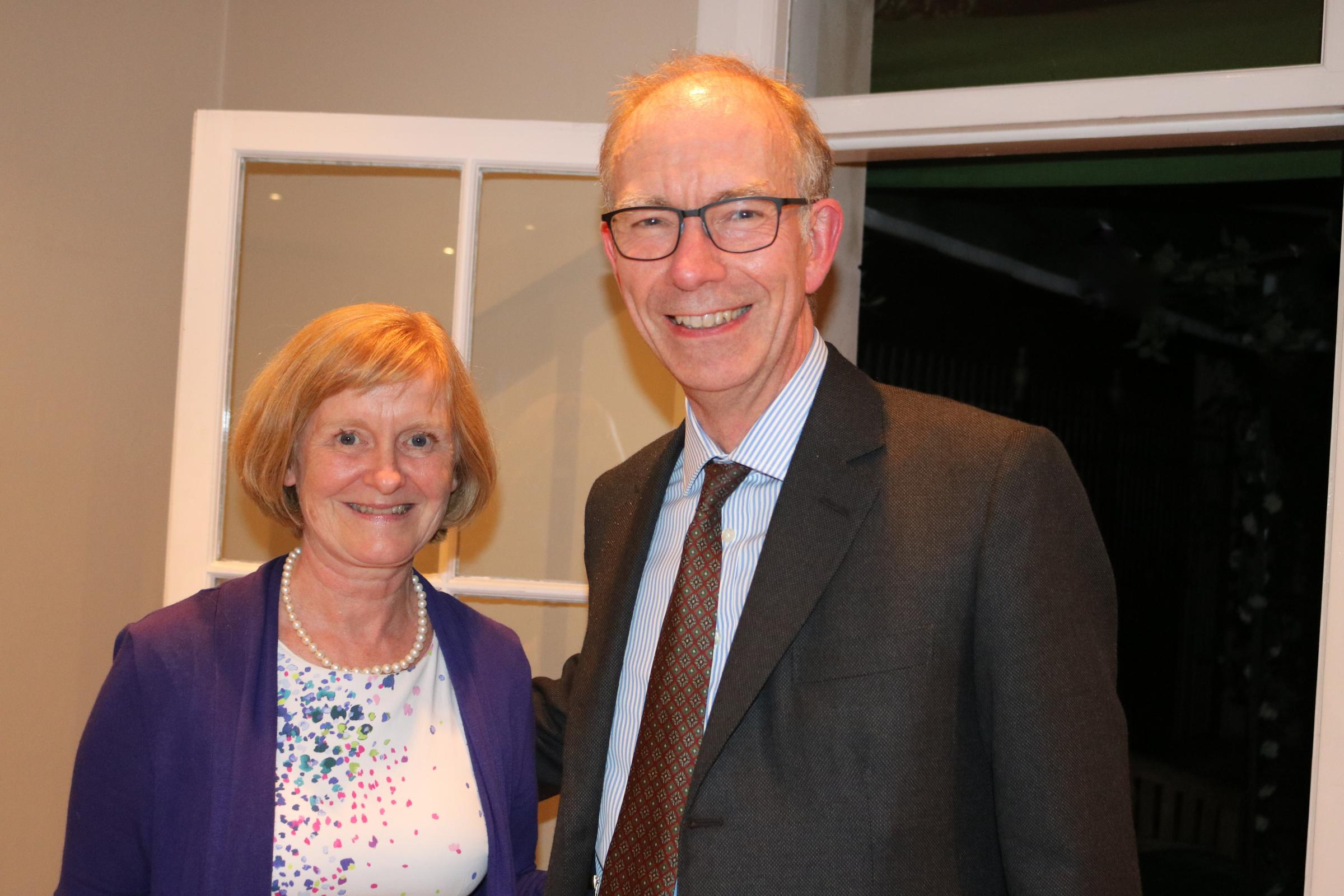 Aileen Richards with former president, Michael Gibbons.