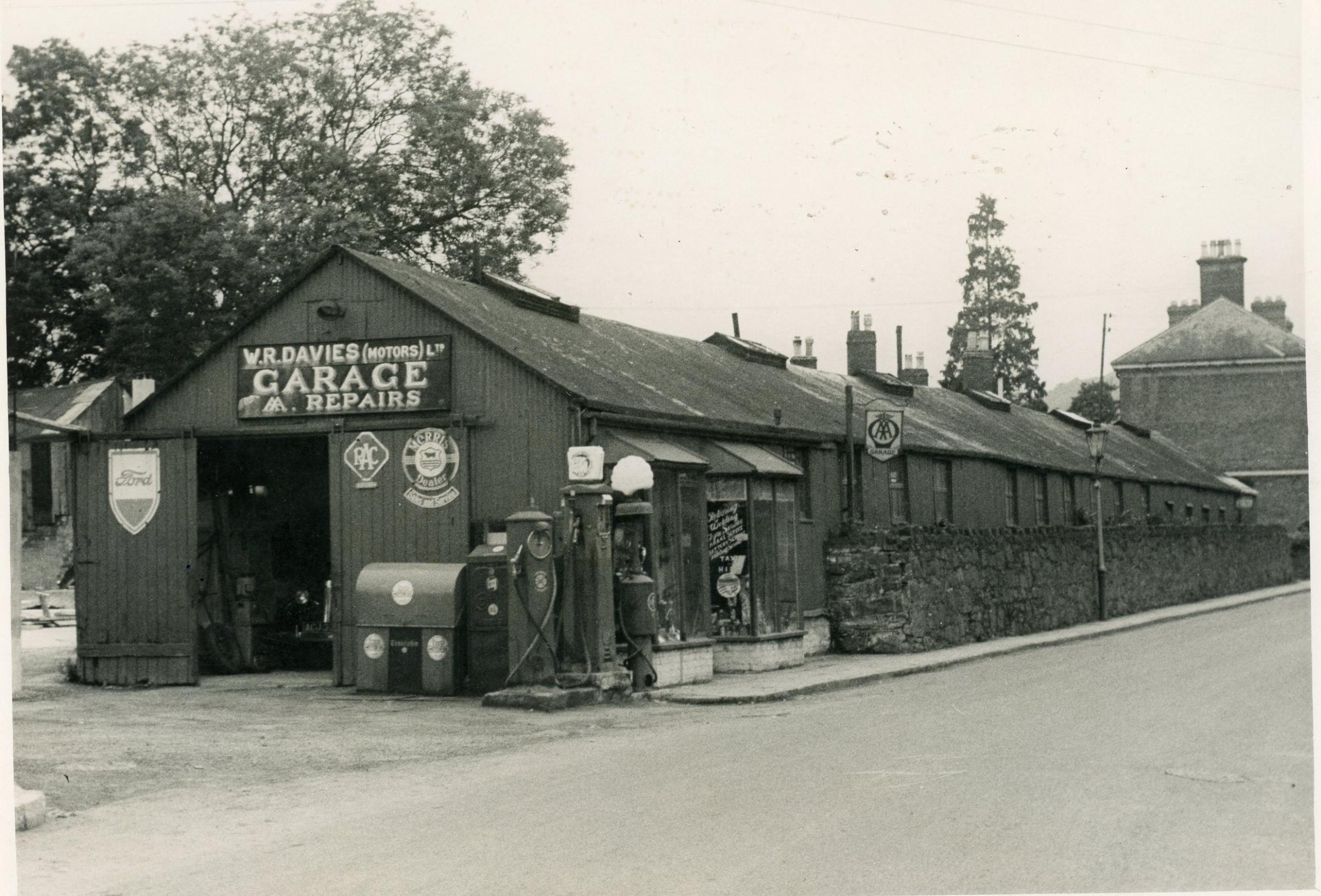 W R Davies old garage on Salop Road, Welshpool.