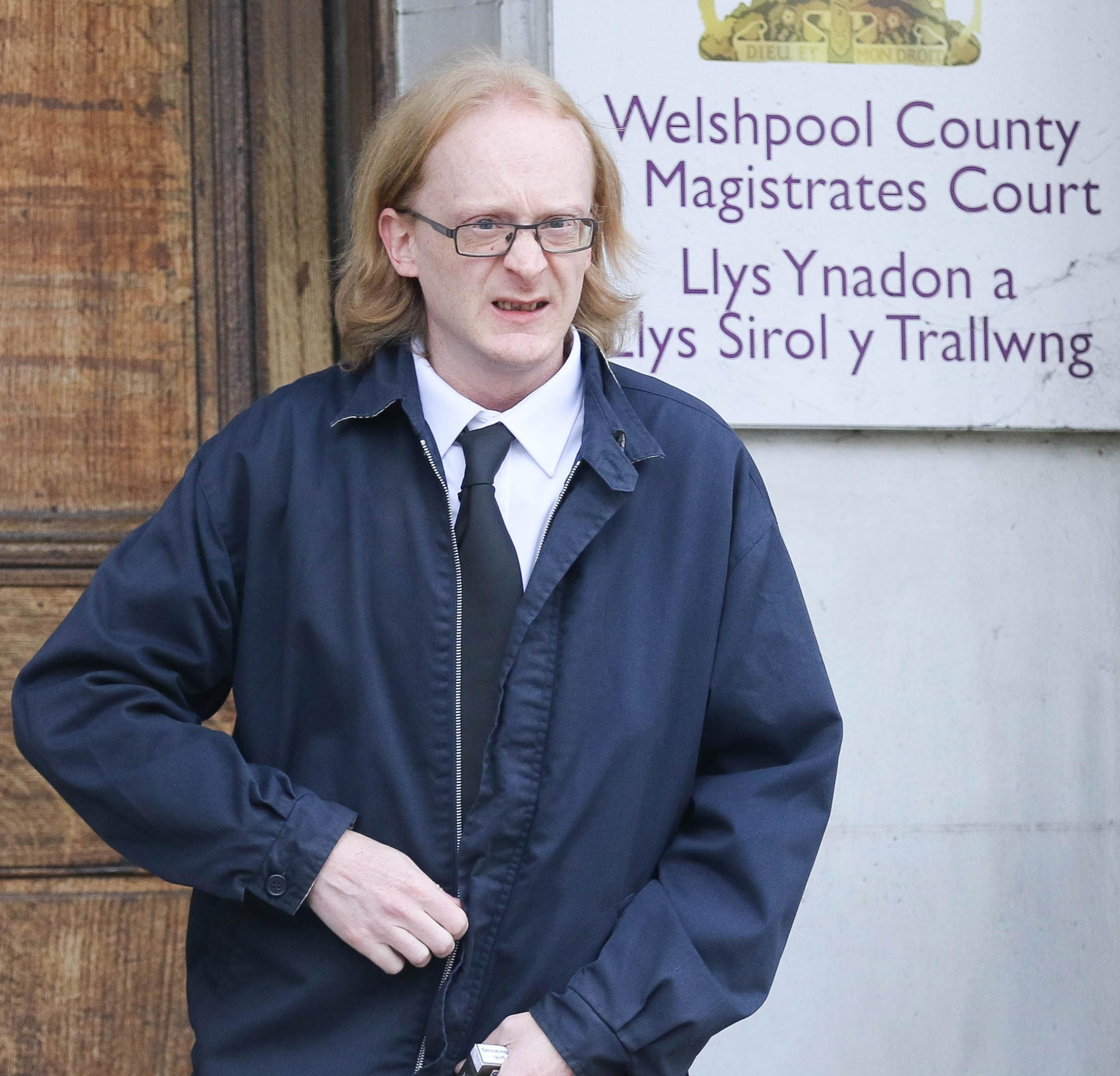 Welshpool Magistrates Court..Pictured is Keith Simpson (43) from Welshpool..Picture by Phil Blagg..PB610-2018-9.