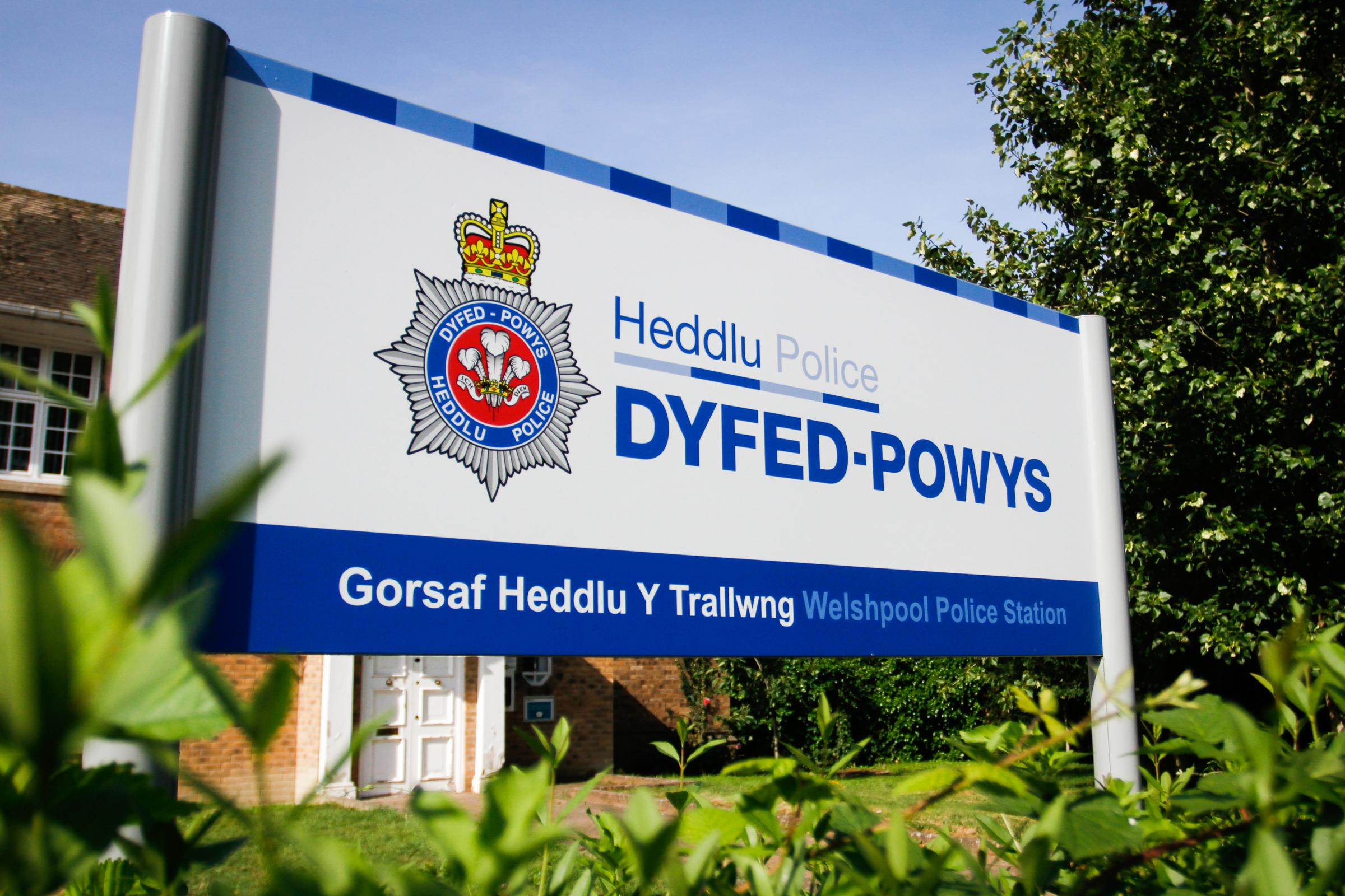 Dyfed Powys Police sign signage on Wednesday, July 25, 2018...Pic: Mike Sheridan/County Times.MS184-2018.