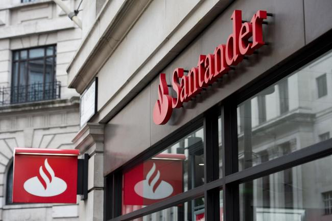 Santander signage above a branch. Picture: Laura Lean/PA Wire