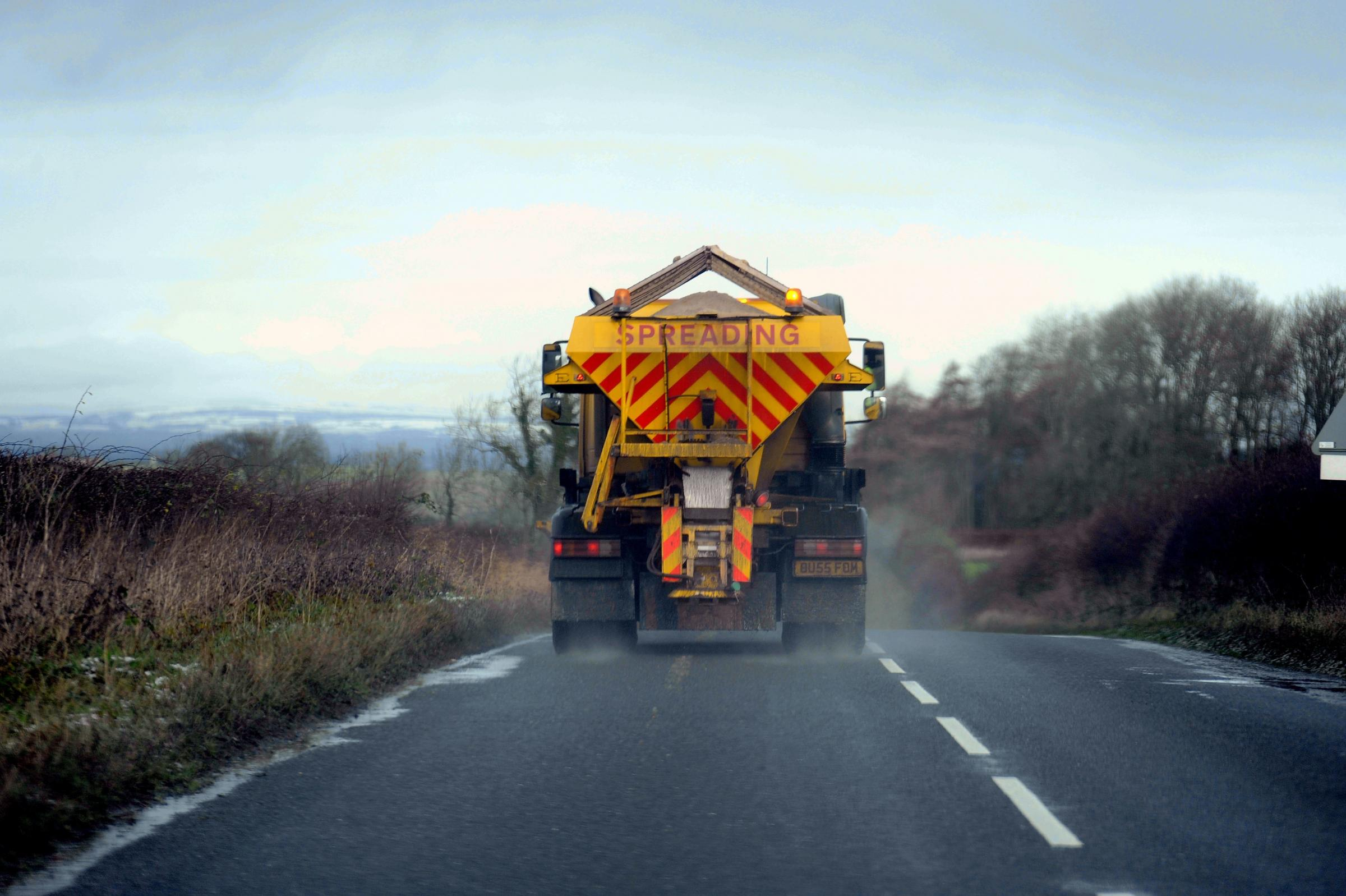 Take care – icy roads warning after wind and rain across Powys