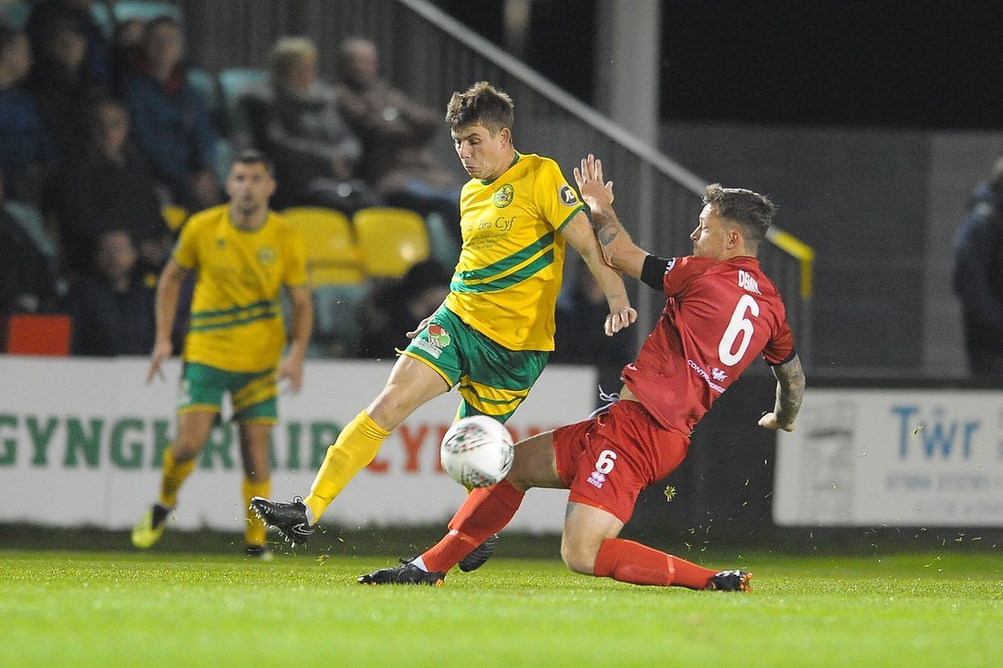 Darren Thomas has been in stunning form for Caernarfon Town of late.