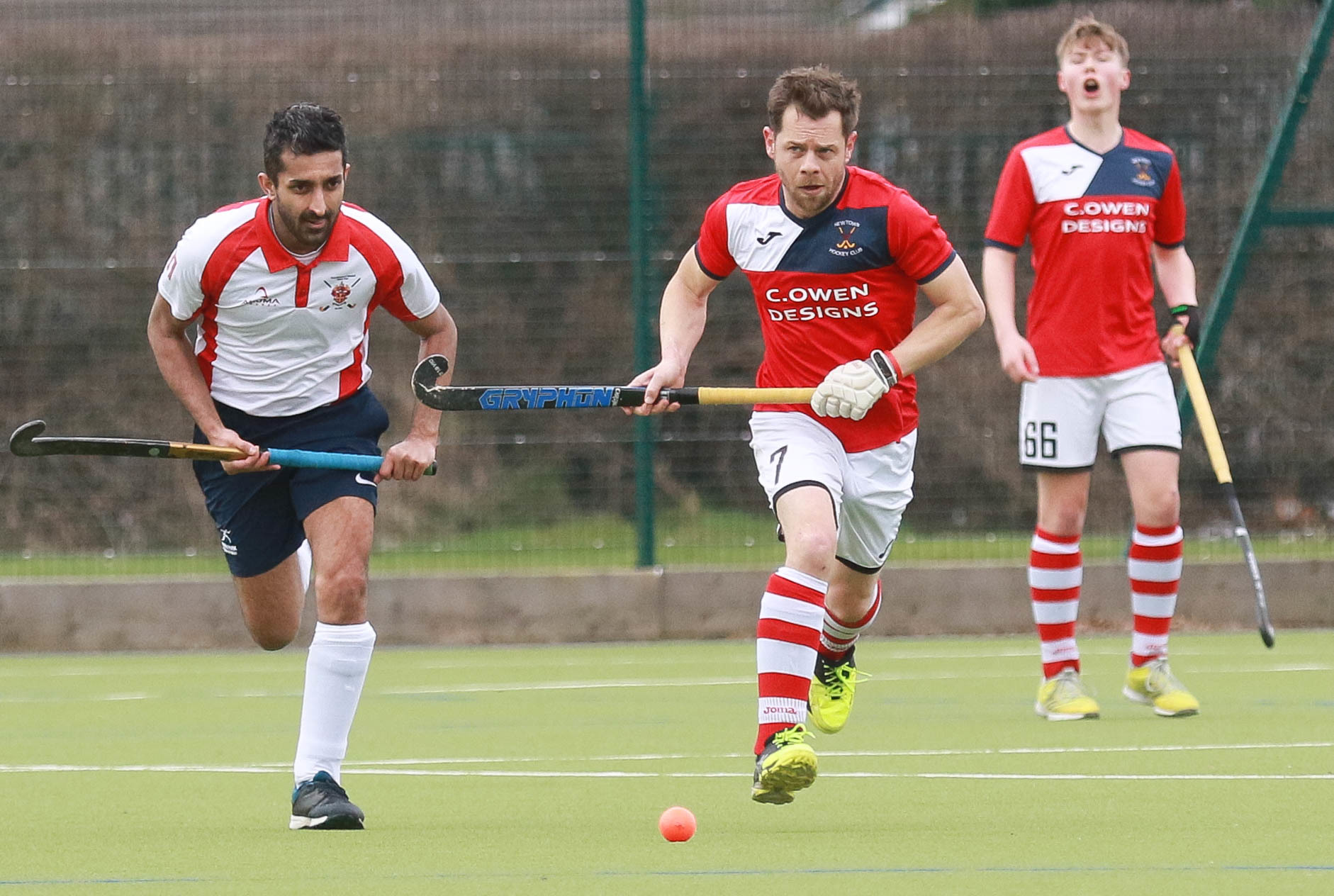 Newtown v Wolverhampton Mens Hockey..Pictured is Andy Denham..Picture by Phil Blagg..PB076-2019-2.