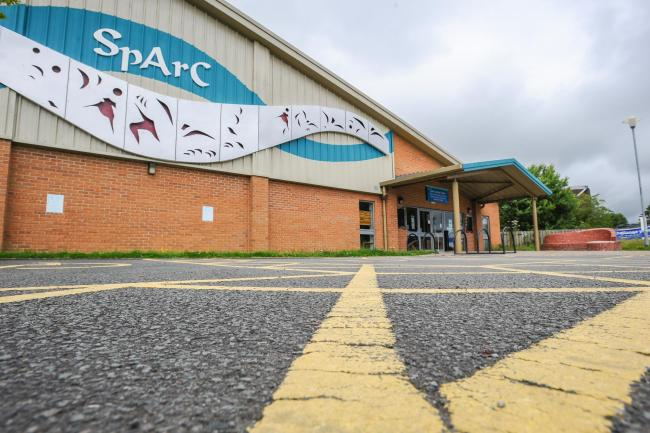The SpArC theatre and leisure centre in Bishops Castle. MS040
