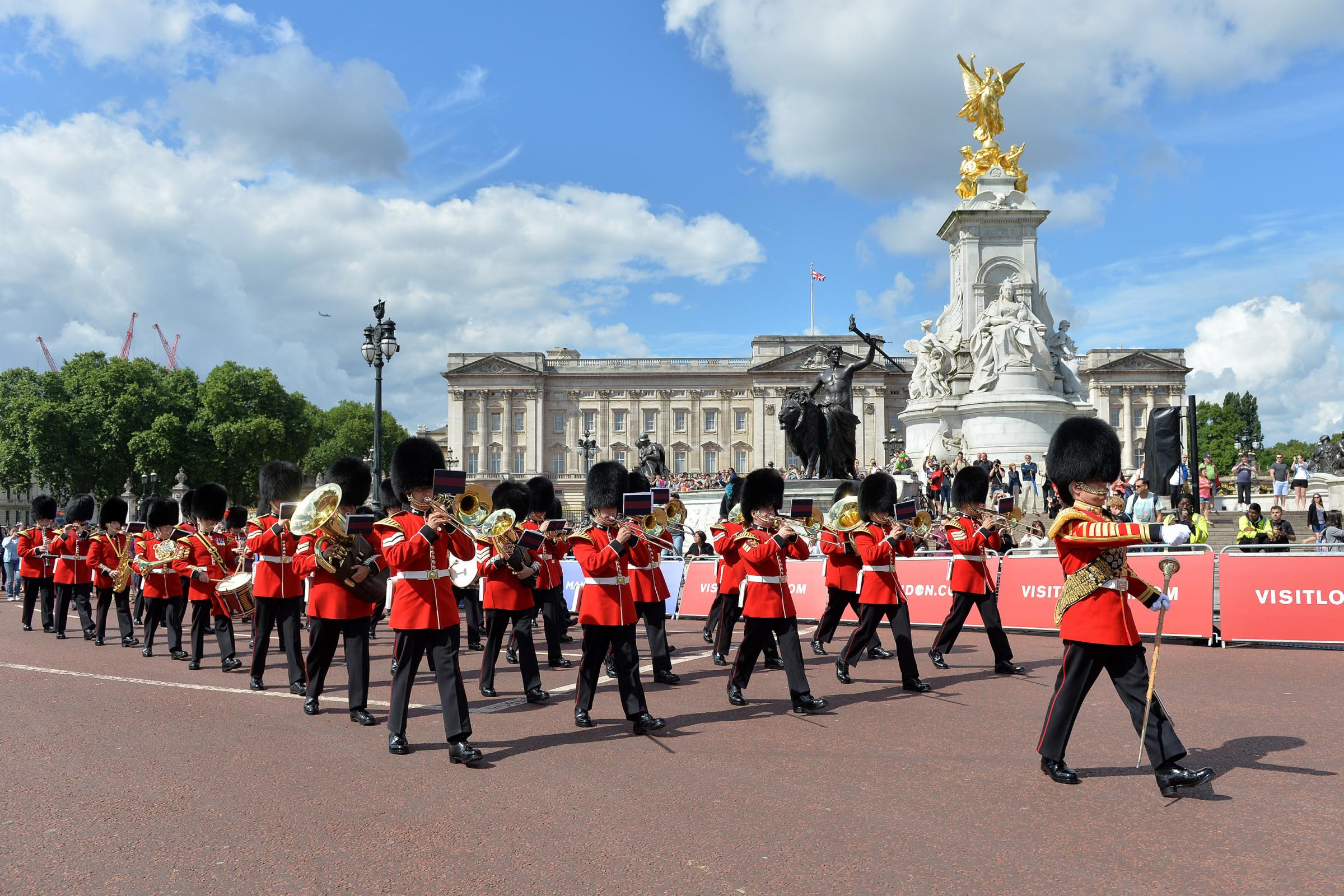 The Band of the Welsh Guards outside Buckingham Palace. Picture: Sgt Steve Blake RLC