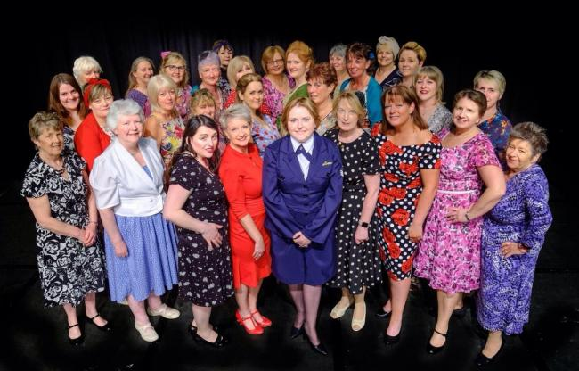 The Castle Belles ready for tonight's 'We' Meet Again' show, as part of the Welshpool 1940s Weekend.
