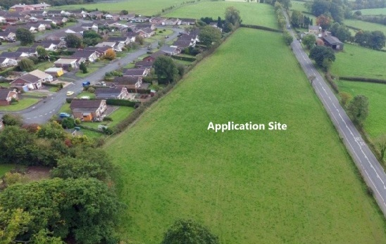 Where developers want to build 55 homes in Llandrindod Wells.