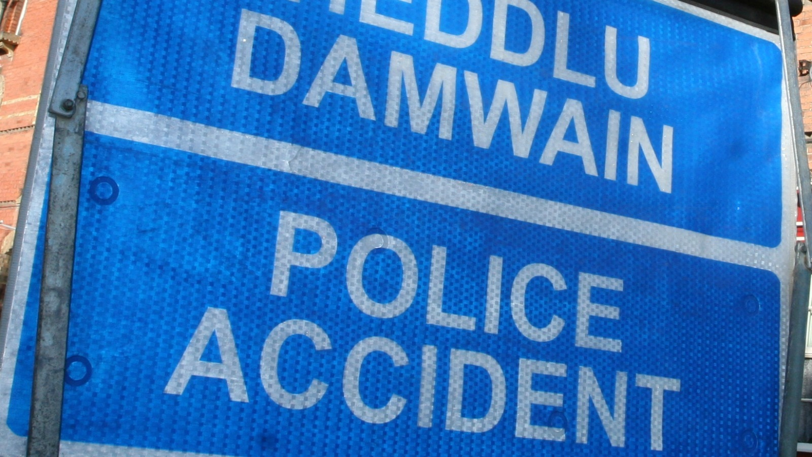 Library image of police 'accident' sign