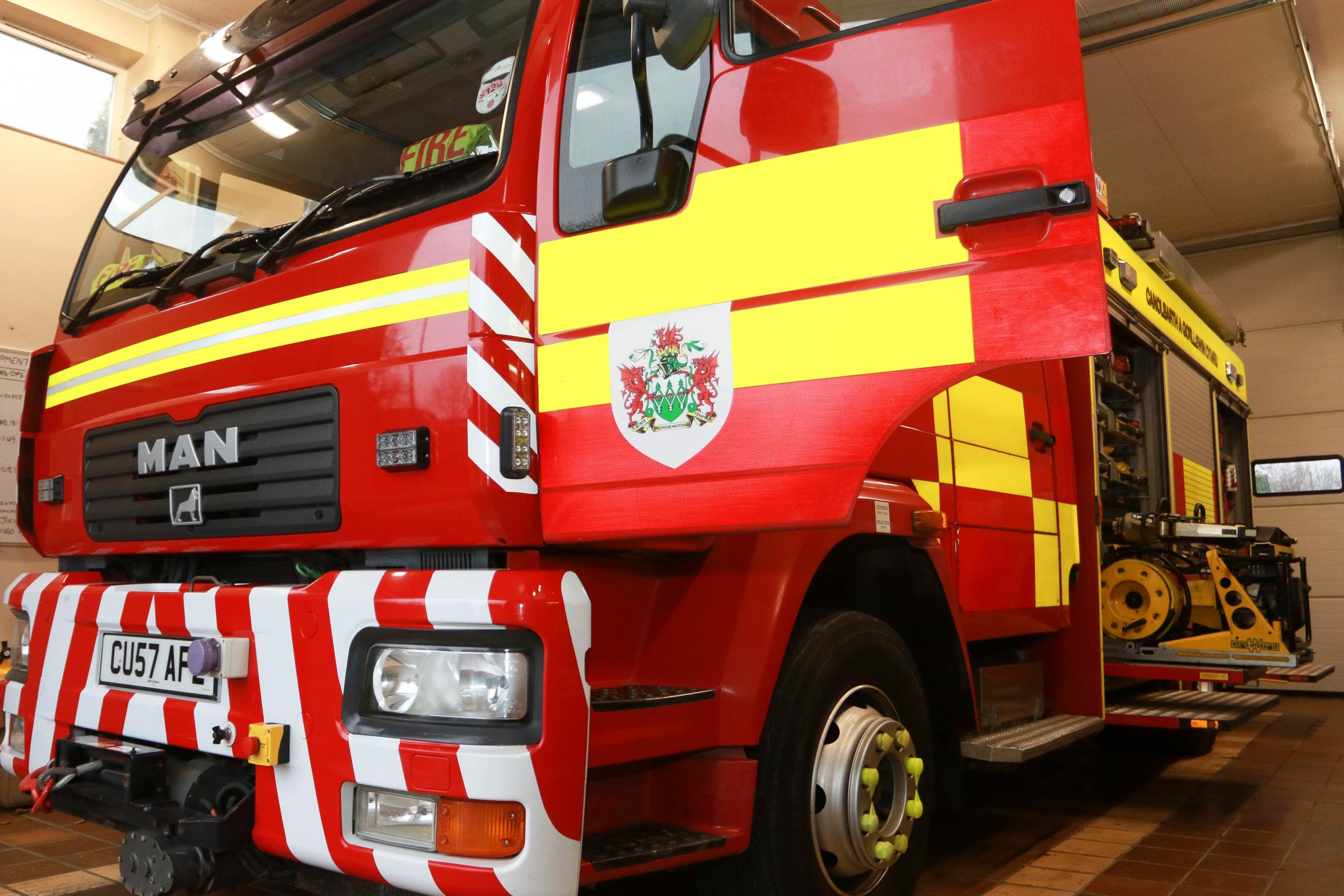 Firefighters rescue seven dogs from burning bungalow near Knighton