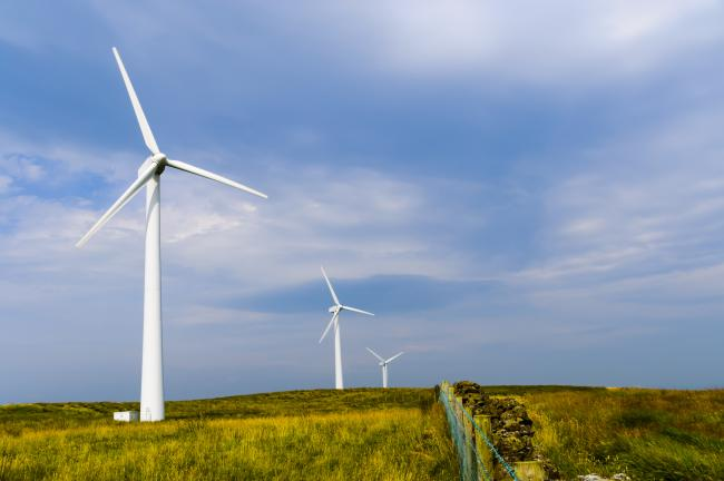 Wind turbines are banned for onshore areas of England.