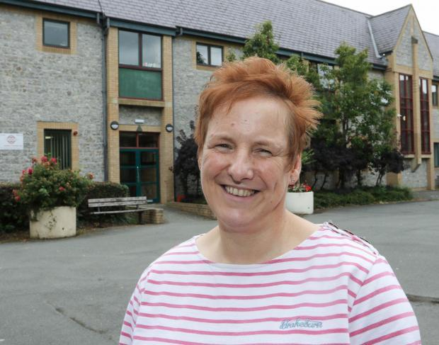 Ionwen Spowage is the outgoing headteacher of Ysgol Calon Cymru (Picture: Phil Blagg)